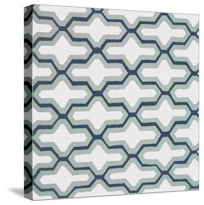 Blue Lattice Pattern II-Lanie Loreth-Stretched Canvas Print