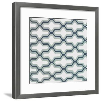 Blue Lattice Pattern II-Lanie Loreth-Framed Premium Giclee Print