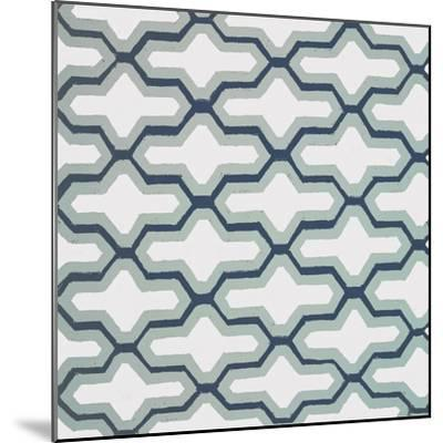 Blue Lattice Pattern II-Lanie Loreth-Mounted Premium Giclee Print
