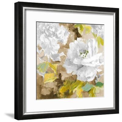White Modern Peonies I-Lanie Loreth-Framed Premium Giclee Print