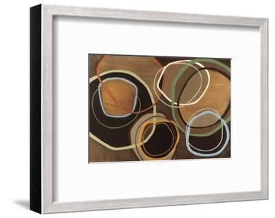 14 Friday I - Brown Circle Abstract-Jeni Lee-Framed Premium Giclee Print