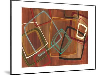Twenty Tuesday II - Brown Square Abstract-Jeni Lee-Mounted Premium Giclee Print