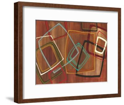 Twenty Tuesday II - Brown Square Abstract-Jeni Lee-Framed Premium Giclee Print