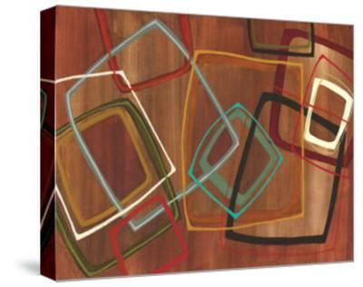 Twenty Tuesday II - Brown Square Abstract-Jeni Lee-Stretched Canvas Print