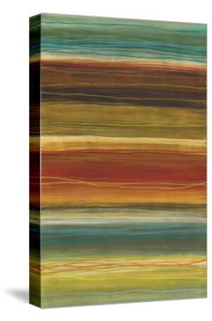 Organic Layers II - Stripes, Layers-Jeni Lee-Stretched Canvas Print