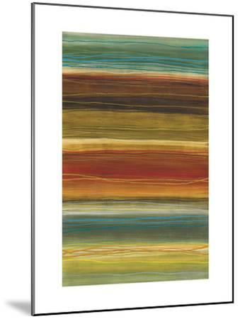 Organic Layers II - Stripes, Layers-Jeni Lee-Mounted Art Print