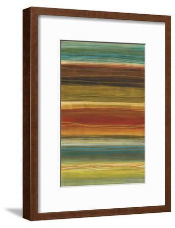 Organic Layers II - Stripes, Layers-Jeni Lee-Framed Art Print