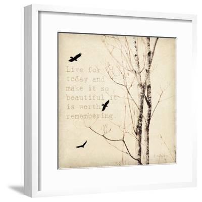 Birds and Branches II-Amy Melious-Framed Art Print