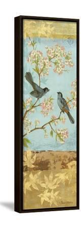 Catbirds and Blooms Panel-Pamela Gladding-Framed Stretched Canvas Print