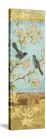 Catbirds and Blooms Panel-Pamela Gladding-Stretched Canvas Print