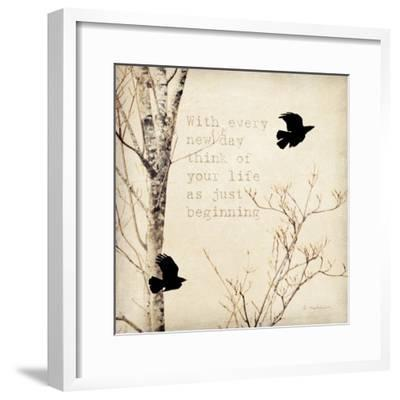 Birds and Branches I-Amy Melious-Framed Art Print