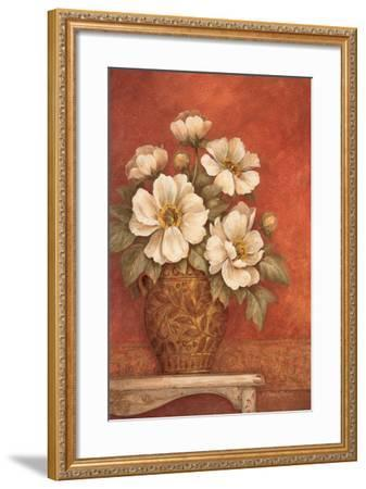Villa Flora Peonies-Pamela Gladding-Framed Premium Giclee Print