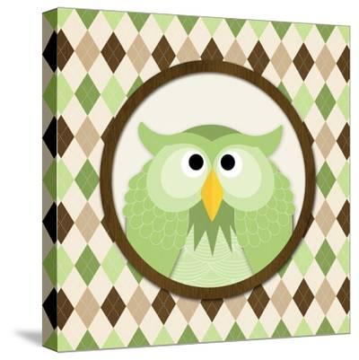 O Is for Owl III-N^ Harbick-Stretched Canvas Print
