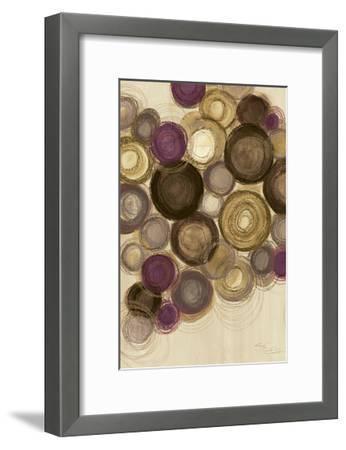 Purple Whimsy II Circles-Jeni Lee-Framed Art Print