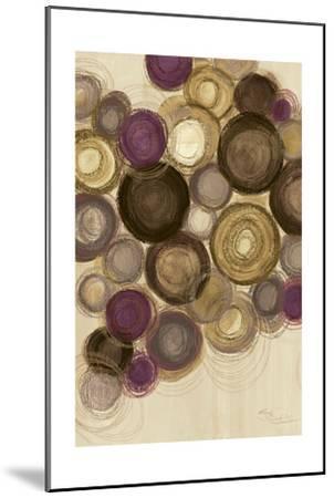 Purple Whimsy II Circles-Jeni Lee-Mounted Art Print