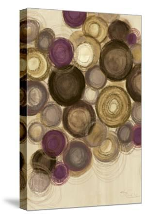 Purple Whimsy II Circles-Jeni Lee-Stretched Canvas Print