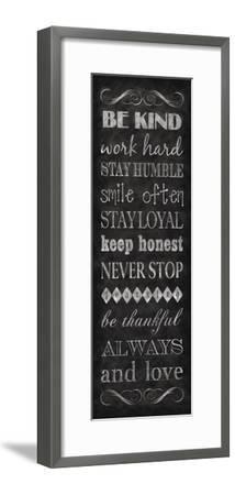 Rules for Life I-N^ Harbick-Framed Art Print