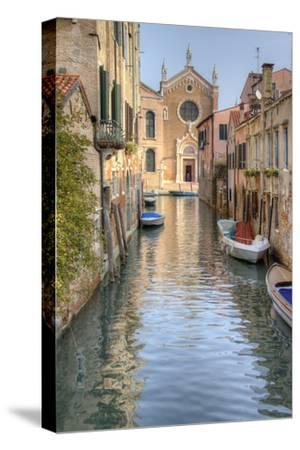 Waterways of Venice I-George Johnson-Stretched Canvas Print
