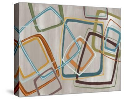 Twenty Tuesday IV Silver Squares-Jeni Lee-Stretched Canvas Print
