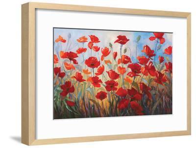 Poppies at Dusk III-Stanislav Sidorov-Framed Art Print