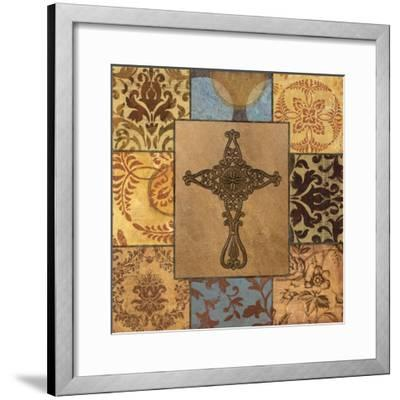 Patchwork Cross I-Todd Williams-Framed Art Print