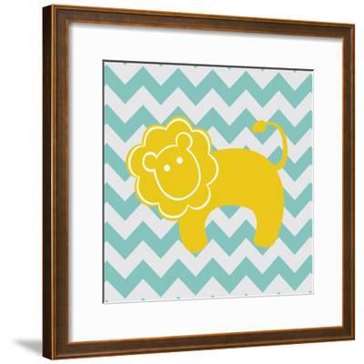 Chevron Lion-N^ Harbick-Framed Art Print