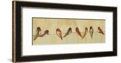 Birds of a Feather Panel I-Jeni Lee-Framed Art Print