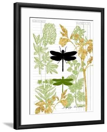 Garden Botanicals & Dragonflies-Devon Ross-Framed Art Print