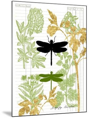 Garden Botanicals & Dragonflies-Devon Ross-Mounted Art Print