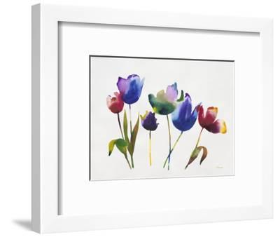 Rainbow Tulips 2-Paulo Romero-Framed Premium Giclee Print