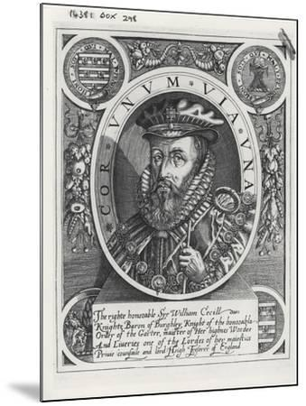 William Cecil, 1st Baron Burghley-William Rogers-Mounted Giclee Print