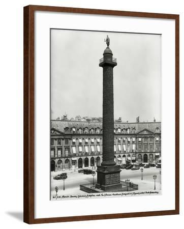 Place Vendome (1685-1708) with the Column Built by Denon, Gondouin and Lepere in 1806-10, 1926- Giraudon-Framed Giclee Print
