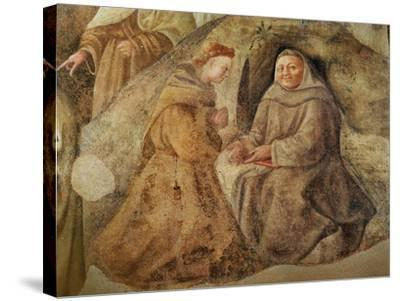The Reform of the Carmelite Rule, Detail of Two Carmelite Friars, C.1422-Fra Filippo Lippi-Stretched Canvas Print