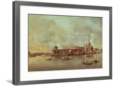 Santa Maria Della Salute Seen from the Mouth of the Grand Canal, Venice-Francesco Guardi-Framed Giclee Print