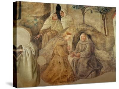 The Reform of the Carmelite Rule, Detail of Four Carmelite Friars, C.1422-Fra Filippo Lippi-Stretched Canvas Print