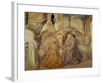 The Reform of the Carmelite Rule, Detail of Four Carmelite Friars, C.1422-Fra Filippo Lippi-Framed Giclee Print