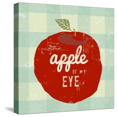 Gingham Apple-Lola Bryant-Stretched Canvas Print