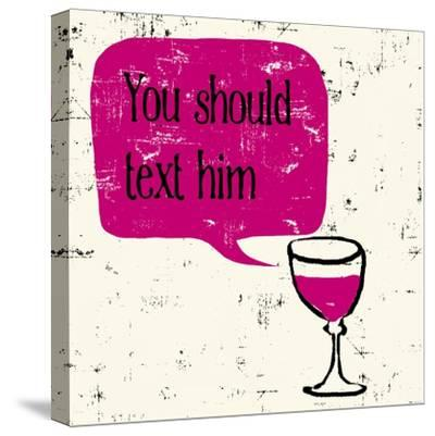 Words of Wine 9-Lola Bryant-Stretched Canvas Print