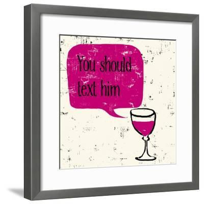 Words of Wine 9-Lola Bryant-Framed Art Print