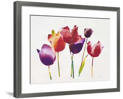 Rainbow Tulips 1-Paulo Romero-Framed Art Print