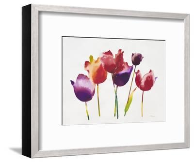 Rainbow Tulips 1-Paulo Romero-Framed Premium Giclee Print