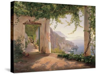 Amalfi Cappuccini-Carl Frederic Aagaard-Stretched Canvas Print