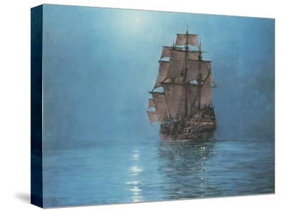 Crescent Moon-Montague Dawson-Stretched Canvas Print