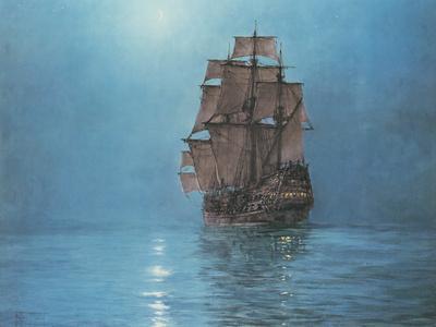 Crescent Moon-Montague Dawson-Premium Giclee Print