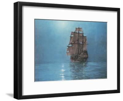 Crescent Moon-Montague Dawson-Framed Premium Giclee Print
