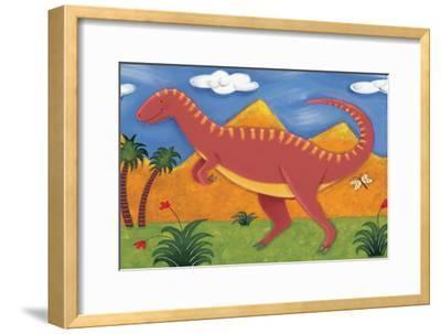 Izzy the Iguanodon-Sophie Harding-Framed Premium Giclee Print