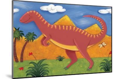 Izzy the Iguanodon-Sophie Harding-Mounted Premium Giclee Print