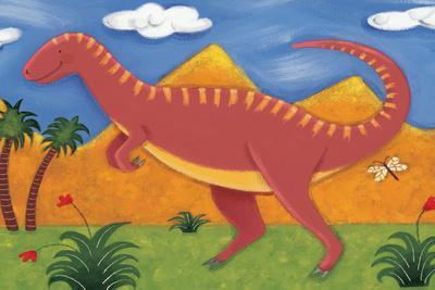 Izzy the Iguanodon-Sophie Harding-Stretched Canvas Print