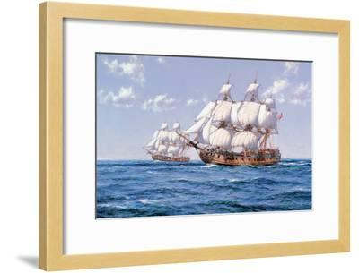 Duke and Duchess-Montague Dawson-Framed Premium Giclee Print