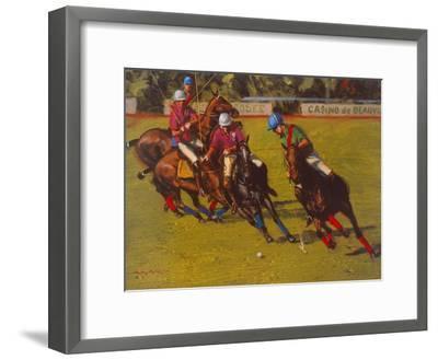 Polo At Deauville-Henry Koehler-Framed Art Print